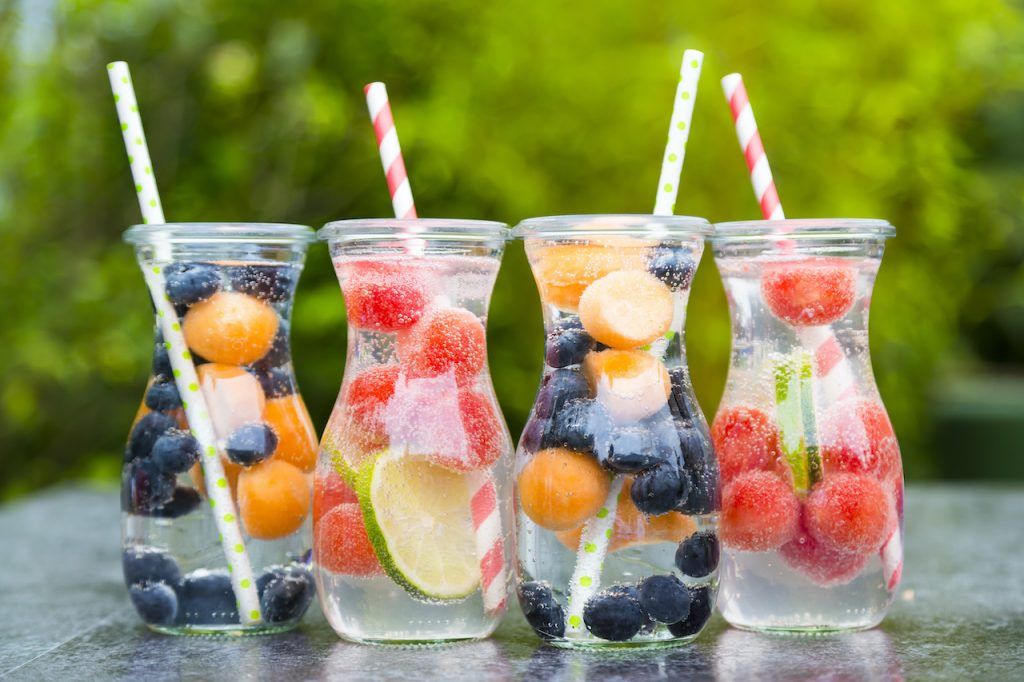 fruit infused water hydration