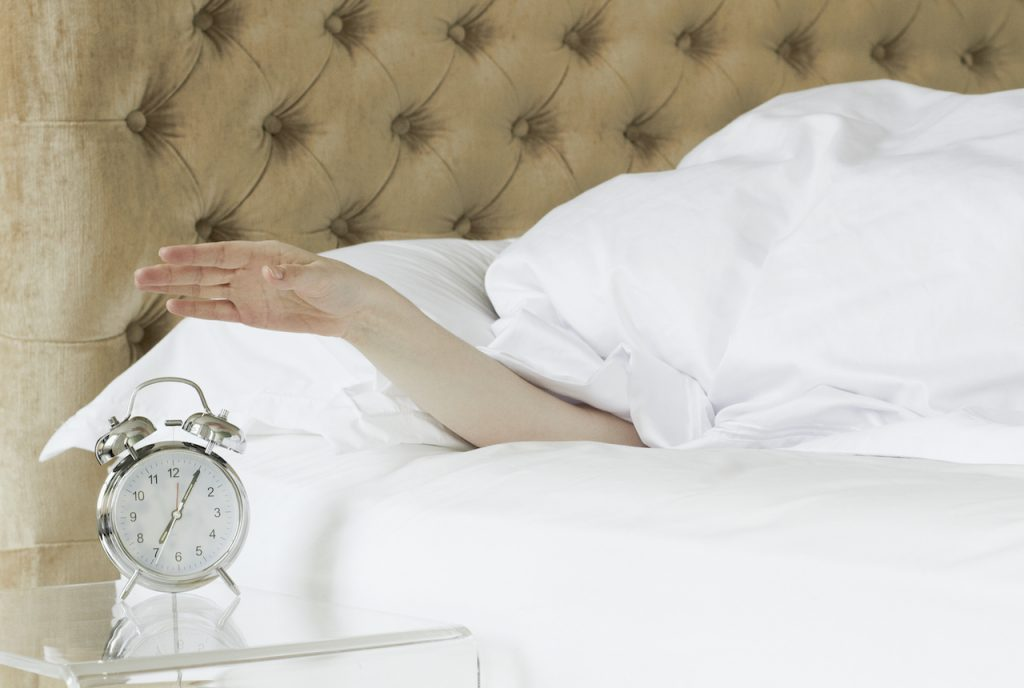 sleep hygiene woman with a good quality of sleep